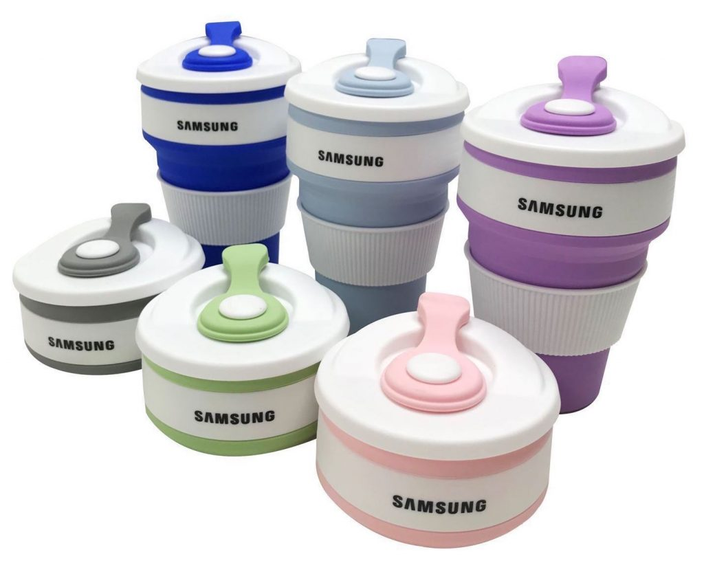 Samsung collapsible coffee cup
